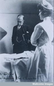 L0074449 Sir William Osler on ward round at Johns Hopkins Hospital